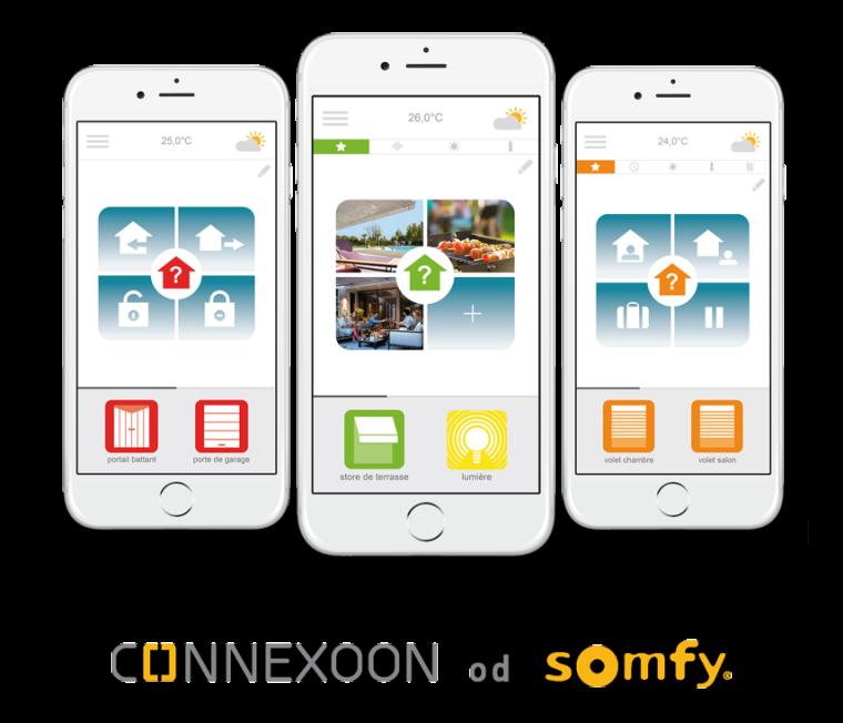 Tři aplikace Somfy