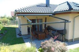 Veranda Box na menší terase, realizace Bohemiaflex CS